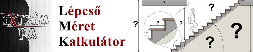 Lépcső Számítás - Online lépcső méret kalkulátor